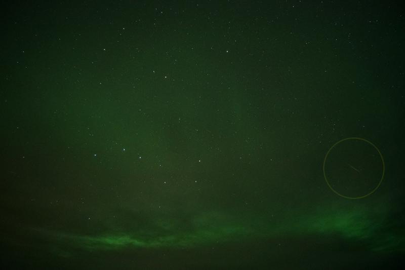 10月りゅう座流星群の流星