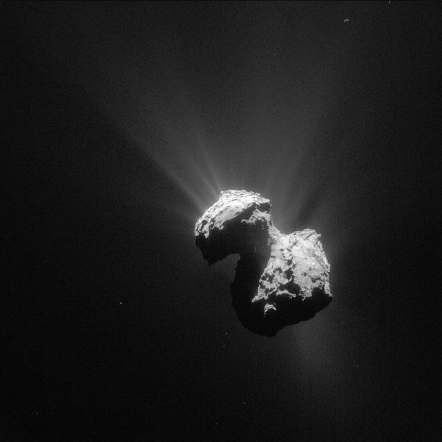 ロゼッタが撮影したチュリモフ・ゲラシメンコ彗星