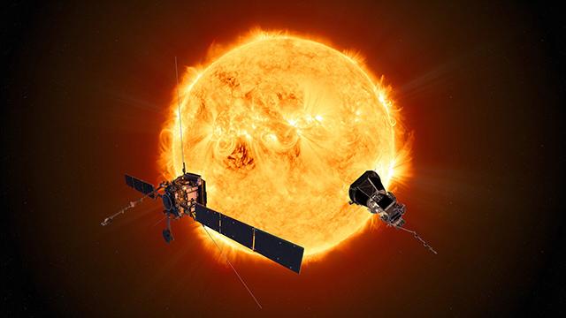 ソーラーオービターとパーカー・ソーラー・プローブの想像図