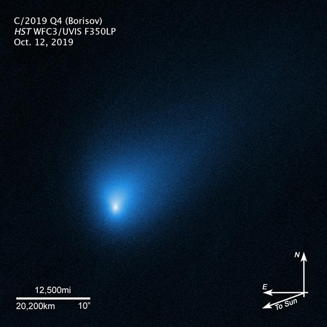ハッブル宇宙望遠鏡がとらえたボリソフ彗星