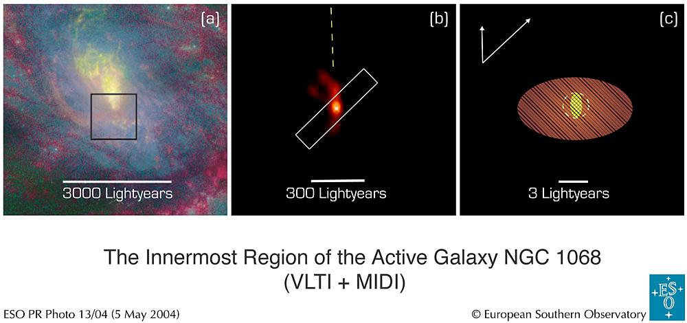 星を見る・宇宙を知る・天文を楽しむ AstroArts天文ニュース活動銀河NGC 1068に存在する宇宙モンスターをクローズアップ