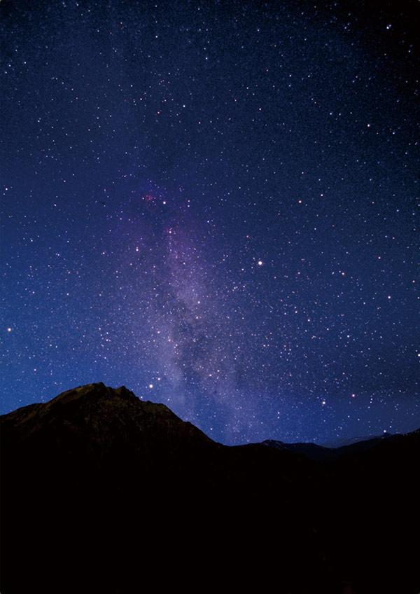 谷川岳で標高1321mの「星の鑑賞...