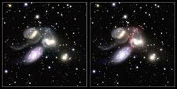 すばる望遠鏡がとらえた「ステファンの五つ子」