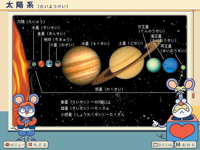「太陽系(たいようけい)」 「太陽系(たいようけい)」 さあ太陽系のうち、君がいちばん行ってみた