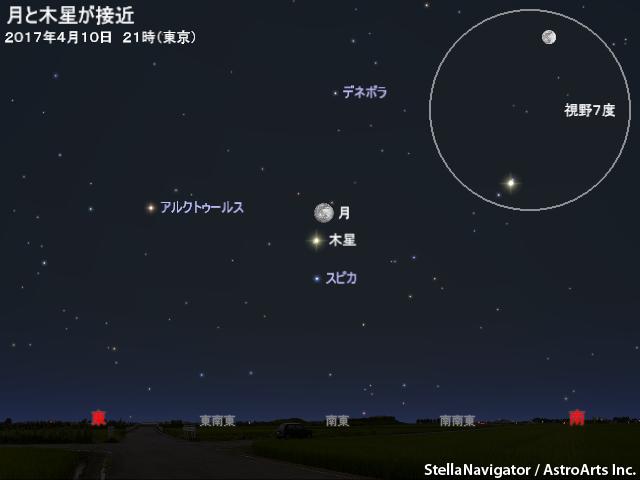 2017年4月10日 月と木星が接近 -...