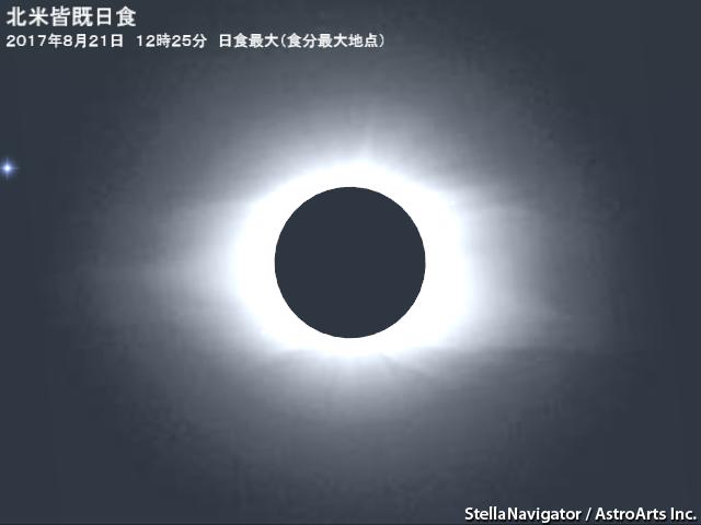 2017年8月22日 皆既日食(北米方...