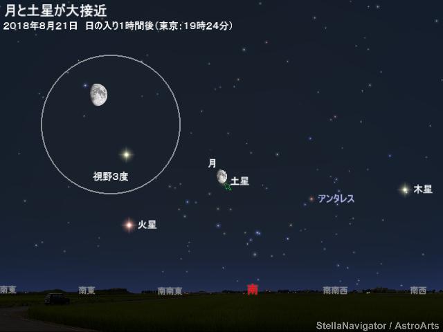2018年8月21日 月と土星が大接近...