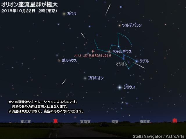 オリオン座流星群が極大