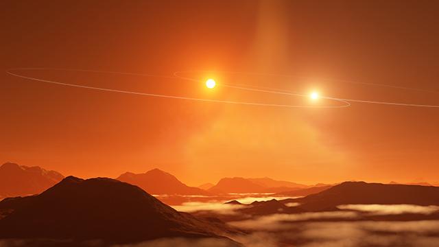 太陽が2つある惑星の回り方 - アストロアーツ