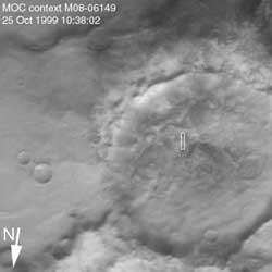 マーズ・グローバル・サーベイヤーがとらえた巨人の足跡 (NASA)
