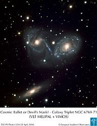 ヨーロッパ南天天文台のVLT、三...