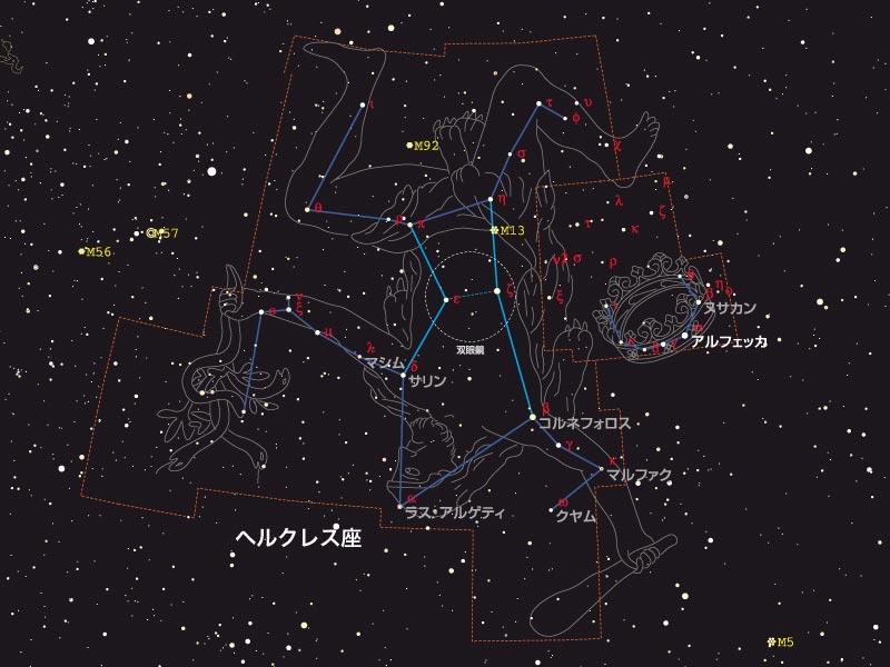 ヘルクレス座の恒星の一覧