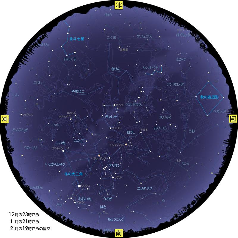 特集】 冬の星空を楽しもう:冬の星座を探そう