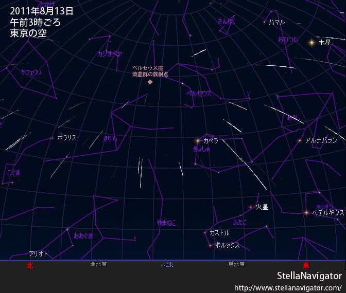 特集】2011年 ペルセウス座流星...